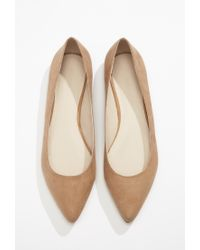 Forever 21 - Brown Faux Suede Pointed Flats - Lyst