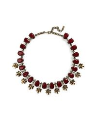 BaubleBar - Purple Crystal Collar Necklace - Maroon /antique Gold - Lyst