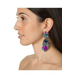 Suzanna Dai | Purple Tropicalia Drop Earrings | Lyst