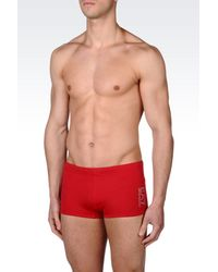 EA7 | Red Swimsuit for Men | Lyst