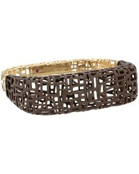 Roberto Coin | Brown Skyline Bangle | Lyst