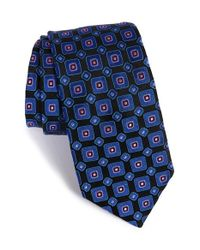 Ted Baker - Blue '60s Squares' Silk Tie for Men - Lyst