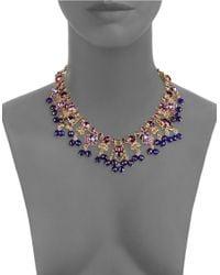 Oscar de la Renta - Purple Crystal Statement Necklace - Lyst