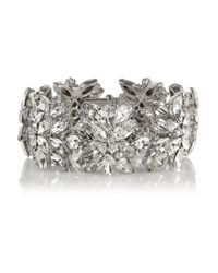 Ben-Amun | Metallic Silver-Plated Swarovski Crystal Bracelet | Lyst