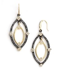 ABS By Allen Schwartz | Metallic Orbital Drop Earrings | Lyst