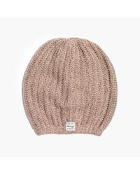 Madewell | Natural Softest Ribbed Beanie | Lyst