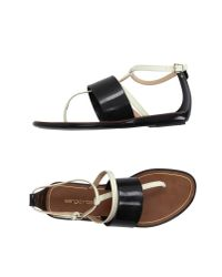 Sergio Rossi - Black Thong Sandal - Lyst