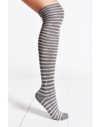 Urban Outfitters - Gray Marled Stripe Over-The-Knee Sock - Lyst