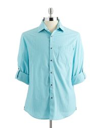 Kenneth Cole | Blue Button-down Shirt for Men | Lyst