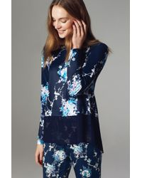 Oasis - Blue Trailing Oriental Top - Lyst