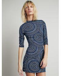 Free People - Blue Terri Bodycon Dress - Lyst