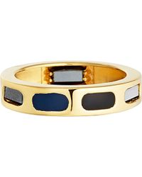 Astley Clarke | Prismic Slice 18ct Yellow Gold And Hematite Ring | Lyst