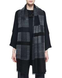 Eskandar | Gray Geometric Pattern Cashmere-blend Scarf | Lyst