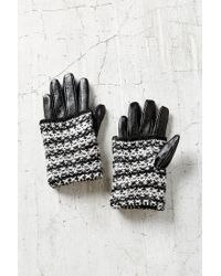 Urban Outfitters - Multicolor Marled Overlay Leather Texting Glove - Lyst