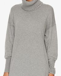 Apiece Apart - Gray Exclusive Turtleneck Sweater Dress: Grey - Lyst