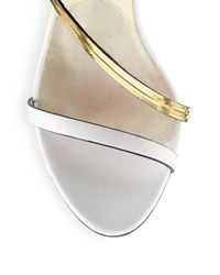 Brian Atwood   White Cecile Leather Chainstrap Sandals   Lyst