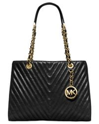 Michael Kors | Black Michael Susanna Medium Tote | Lyst