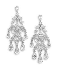 Adriana Orsini | Metallic Tiered Chandelier Earrings | Lyst