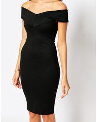 Lipstick Boutique - Black Ava Off Shoulder Dress - Lyst