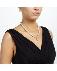 John Lewis - Metallic Pearl Drop Necklace And Earrings Set - Lyst
