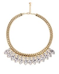 Ted Baker - Metallic Crystal Chain Necklace - Lyst