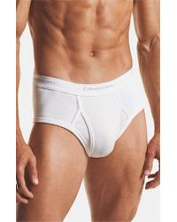 Calvin Klein | White Cotton Briefs, (2-pack)(online Only) for Men | Lyst