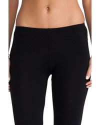 Splendid | Black Modal Lycra Crop Leggings | Lyst