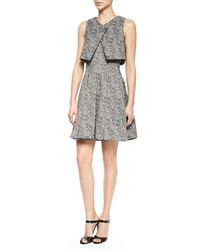 Jonathan Simkhai - Multicolor Layered A-Line Crepe Dress - Lyst