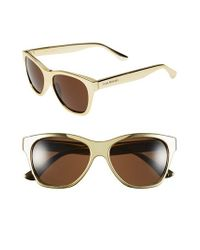 Isaac Mizrahi New York | Metallic 55mm Retro Sunglasses | Lyst