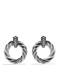 David Yurman - Metallic Cable Classics Earrings With Diamonds - Lyst