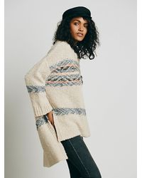 Free People - Natural Alpaca Fairisle Tunic Sweater - Lyst