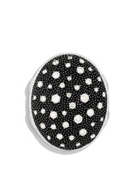 David Yurman - Metallic Midnight Mélange Oval Ring With Diamonds - Lyst