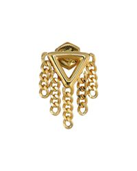 Marc By Marc Jacobs | Metallic Beat It Triangle Fringe Stud Earrings | Lyst