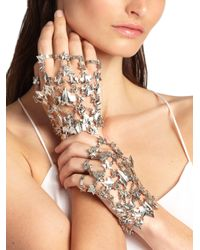 Alexander McQueen - Metallic Ivy Hand Adornment Bracelet Set - Lyst