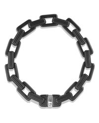 David Yurman - Black Royal Cord Link Bracelet With Sapphires for Men - Lyst