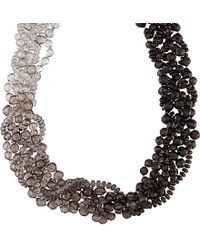 Armani | Gray Beaded Necklace | Lyst