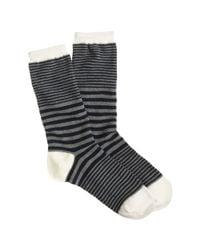 J.Crew - Gray Mixed-stripe Trouser Socks - Lyst
