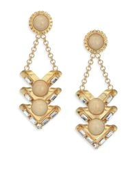 DANNIJO - Metallic Isaac Crystal Drop Earrings - Lyst
