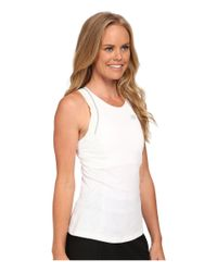 New Balance | White Tournament Racerback Top | Lyst