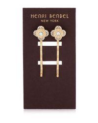 Henri Bendel - Metallic Miss Bendel Petal Bobby Pin Set - Lyst
