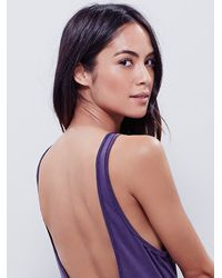 Free People - Purple Super Scoop Cami - Lyst