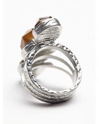 Free People - Metallic Senna Crystal Ring - Lyst