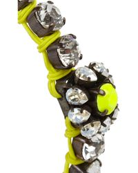 Shourouk | Metallic Baraka Flower Silver-plated Swarovski Crystal Bracelet | Lyst
