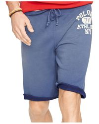 Polo Ralph Lauren | Blue Fleece Shorts for Men | Lyst