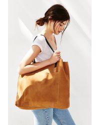 BDG - Brown Suede Pocket Tote Bag - Lyst