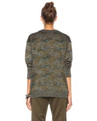 Isabel Marant   Green Wal Lurex Camo Viscose Blend Sweatshirt   Lyst