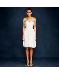 J.Crew - White Side-swoop Dress In Silk Chiffon - Lyst