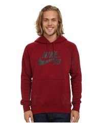 Nike | Red Sb Icon Crackle Pullover Hoodie for Men | Lyst