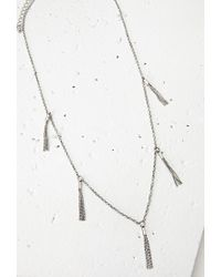 Forever 21 | Metallic Chain Tassel Necklace | Lyst