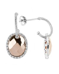Charriol | Metallic Gold Facet 18k Faceted Rose Gold And White Gold 0.26ct Diamonds Dangle Earrings | Lyst